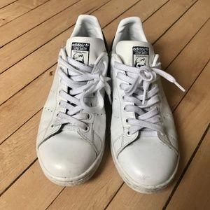 adidas stan smith white & blue sneakers